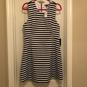 NWT Express Black and White Striped Dress